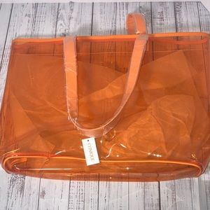 Clinique Bags - Set of 2 Travel Bags/Tote Both New Orange & Green
